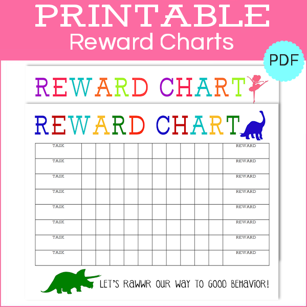 photograph regarding Reward Chart Printable titled Printable Advantage Charts Boy Lady - The Female Resourceful
