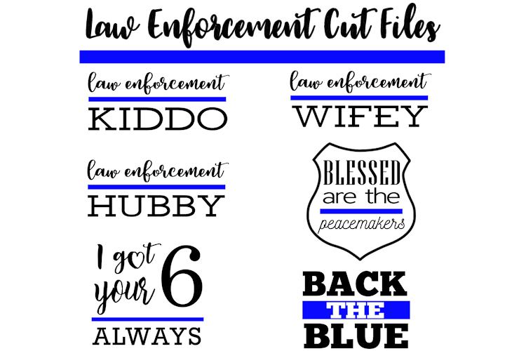 Law Enforcement Cut Files for Silhouette and Cricut