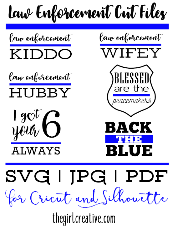 Law Enforcement Cut Files for Cricut and Silhouette | Free Police Cut Files | Law Enforcement SVGs
