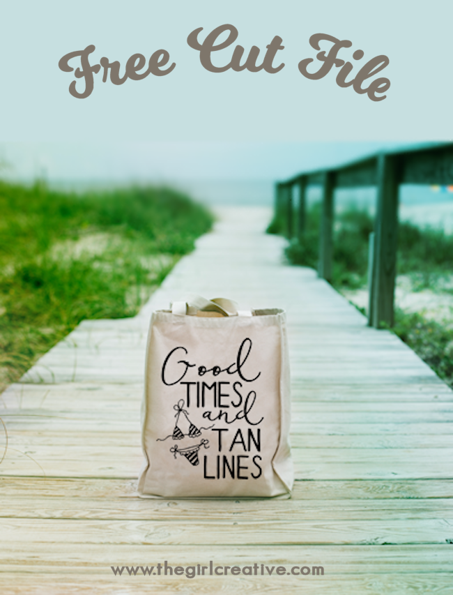 Good Times and Tan Lines FREE SVG Cut File | Summer Crafts | Summer Cut Files