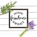 Home Sweet Farmhouse Printable and Cut Files | DIY Farmhouse Decor | Farmhouse Frame | Farmhouse Frame Mockup