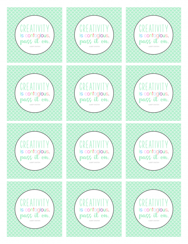 Creativity is Contagious Gift Tags - Free Back to School Printable