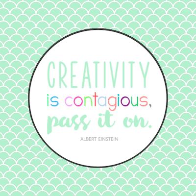 Creativity is Contagious Printable Tags