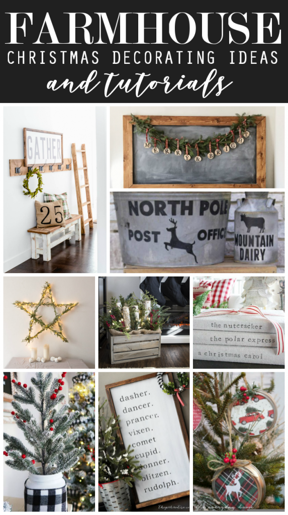 Farmhouse Christmas Decorating Ideas and Tutorials | Rustic Farmhouse Decor | Farmhouse Christmas Inspiration | Simple Modern Farmhouse Decor for the Holidays