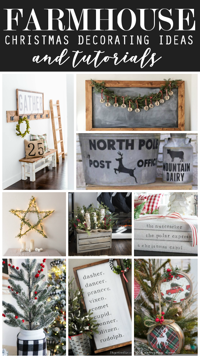 Farmhouse Christmas Decorating Ideas And Tutorials - The