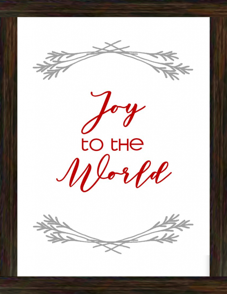 Joy to the World Word Art for Christmas