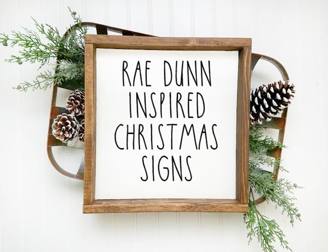 Rae Dunn Inspired Printable Christmas Signs with Cut Files
