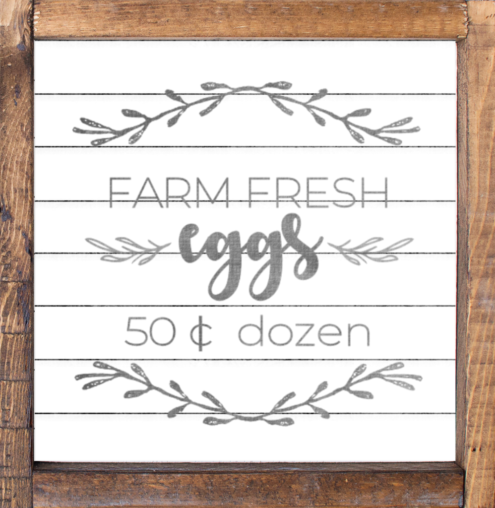 Farm Fresh Eggs Sign