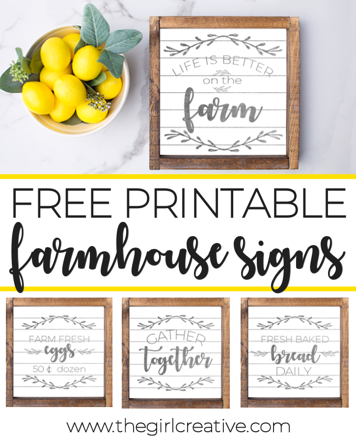 Free Printable Farmhouse Signs | Fixer Upper Inspired Decor | Shiplap Farmhouse Signs