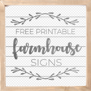 picture about Printable Farmhouse Signs called Farmhouse Indications - The Female Imaginative