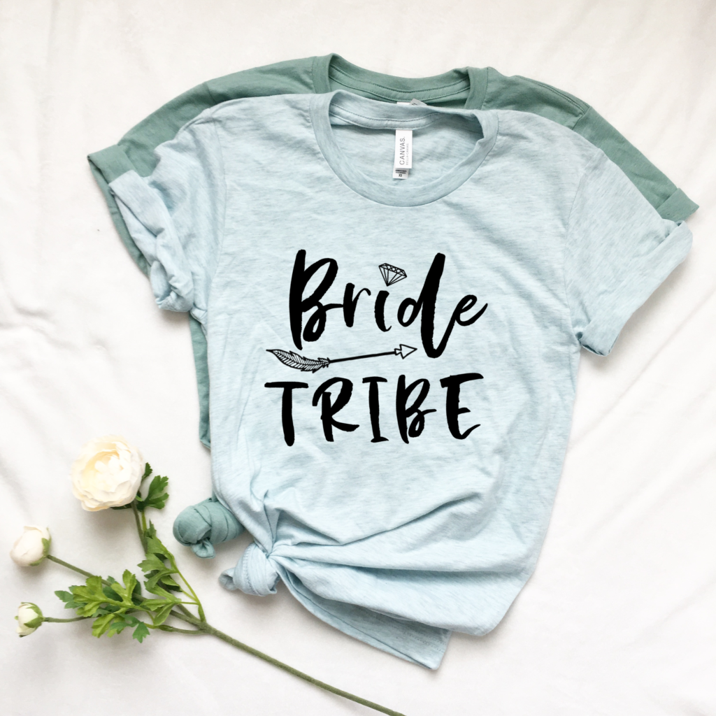 DIY Bridesmaids T-shirts | Bride Tribe SVG