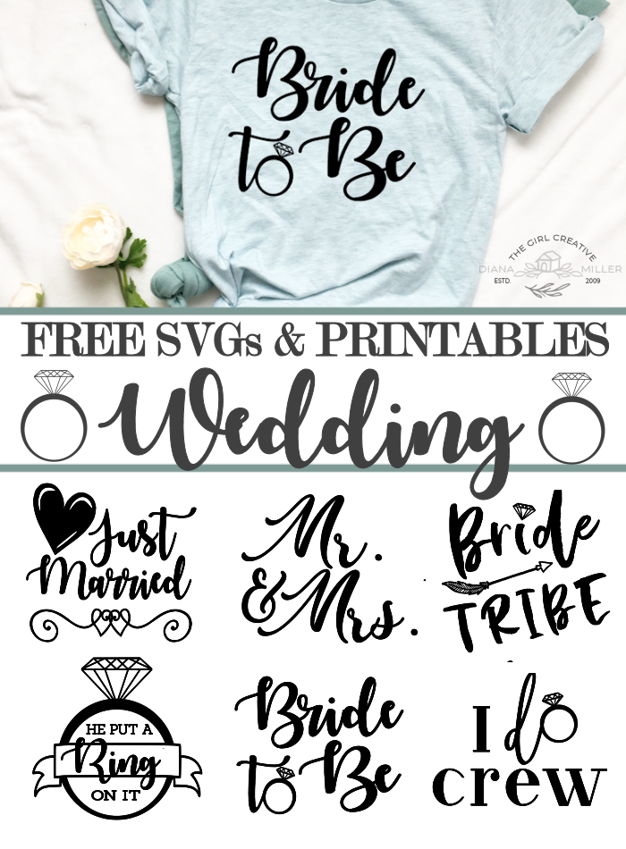 Free Wedding SVGs, Printables and Clipart | Commercial Use Wedding Cut Files for Cricut and Sihouette