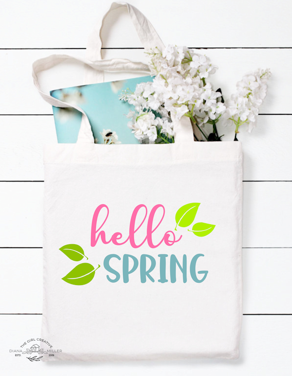Hello Spring SVG Cut File that is perfect for vinyl craft projects. Free for commercial use for Etsy shop owners.