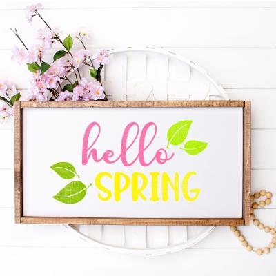 Hello Spring SVG and Printable