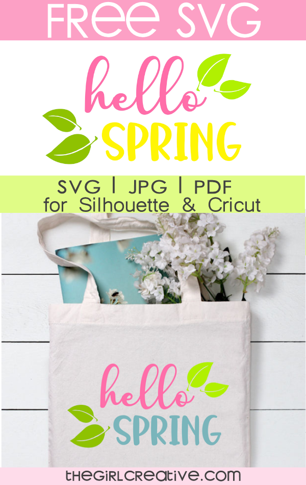 Free Commercial Use Hello Spring SVG for Cricut and Silhouette |