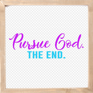 Pursue God Faith Based Tshirt Design