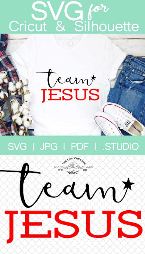 Team Jesus SVG Cut File for Cricut and Silhouette