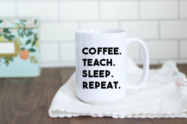 Coffee. Teach.Sleep. Repeat. SVG
