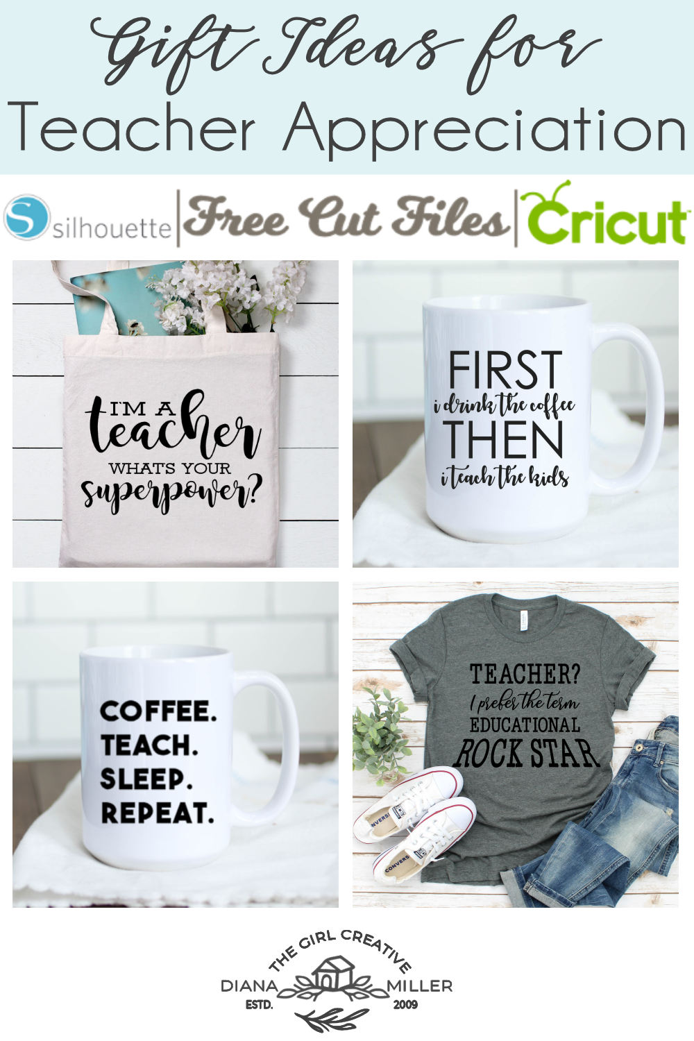 Teacher Appreciation Gift Ideas to Make with Your Silhouette