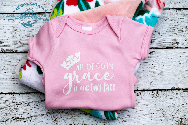 All of God's Grace in One Tiny Face SVG Cut File for Silhouette and Cricut