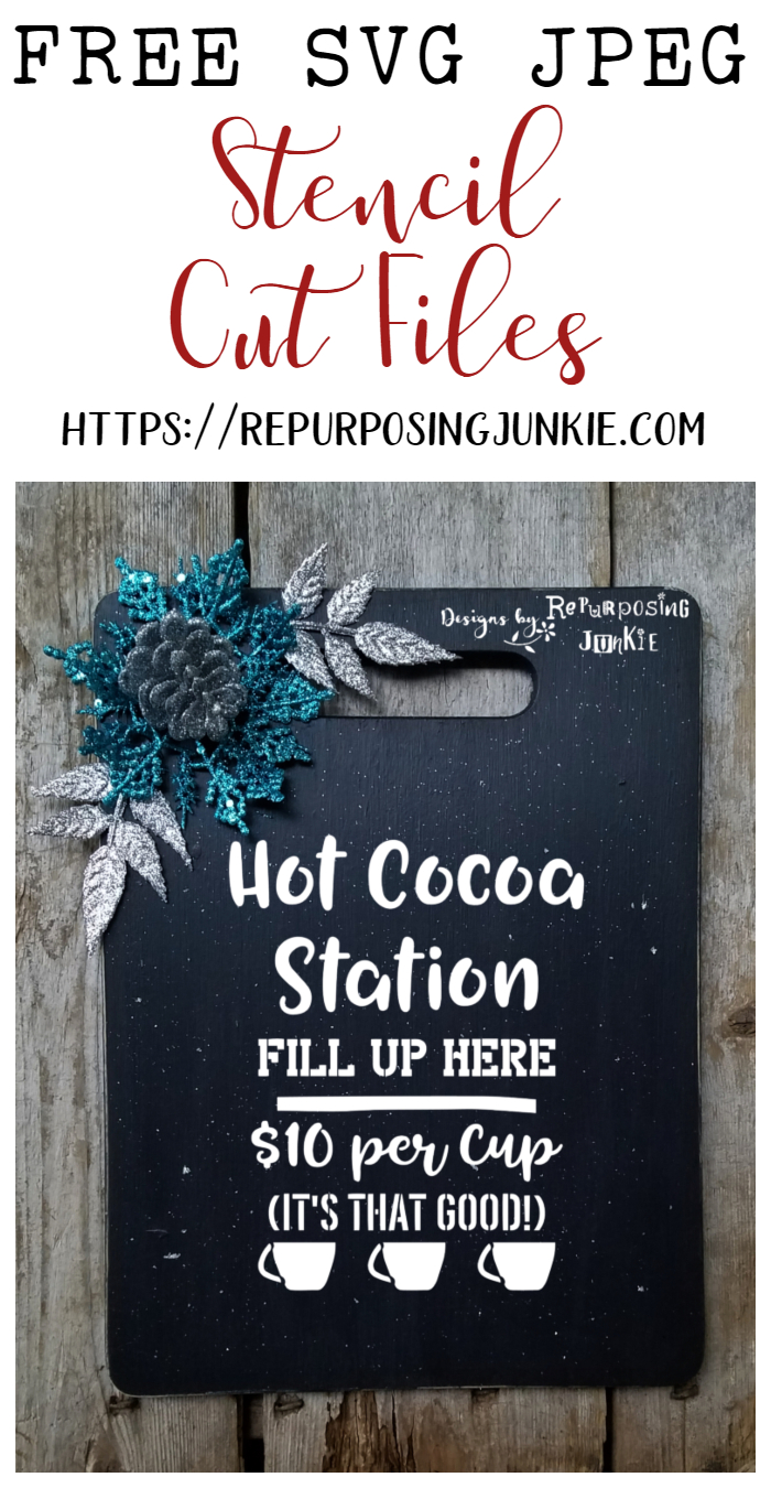 Free SVG Hot Cocoa Station Cut Files