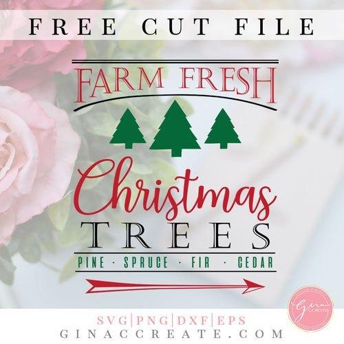 Farm Fresh Christmas Trees | Free SVG Cut File