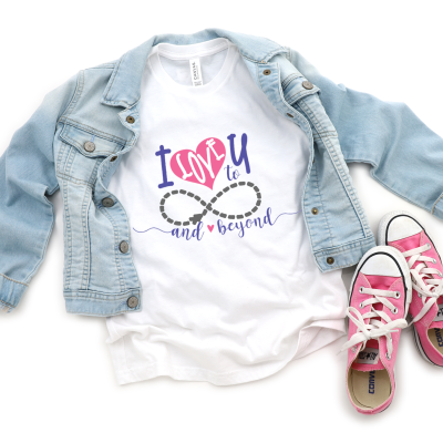 I love You to Infinity and Beyond DIY T-shirt for Valentine's Day