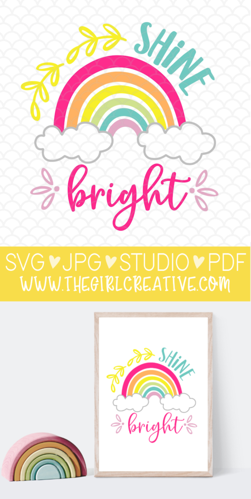 Shine Bright Printable Sign for Classrooms, Bedrooms, Nurseries, Day Care Centers