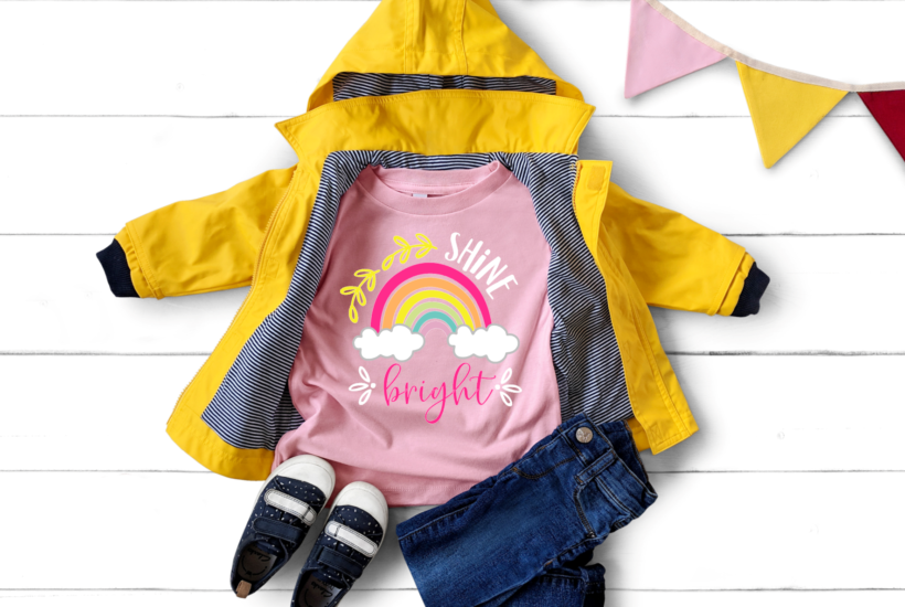 Shine Bright SVG Design for Cricut and Silhouette #tshirtsforkids #tshirtdesigns #svgforcricut #svgforsilhouettecameo #diykidsclothes #htvprojects
