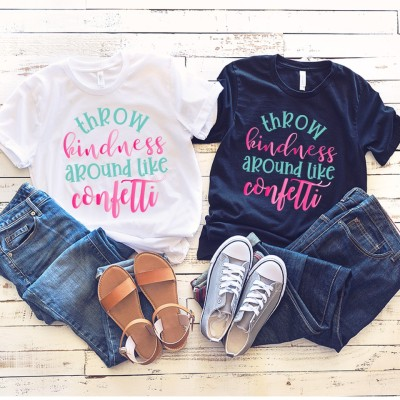 Free Throw Kindness Around Like Confetti SVG + T-Shirt
