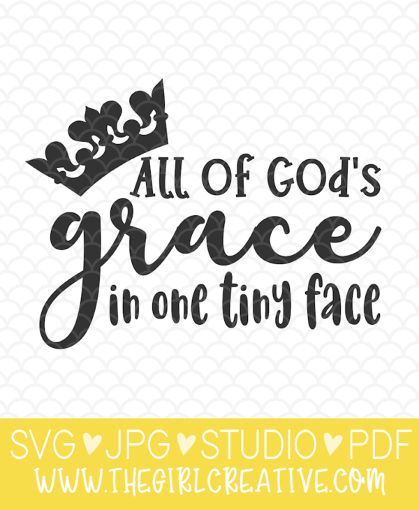 All of God's Grace SVG Graphic for Babu