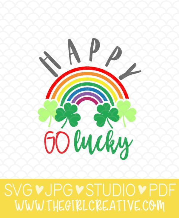 Happy Go Lucky Rainbow SVG