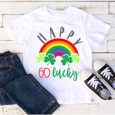 Happy Go Lucky Free SVG for St. Patrick's Day