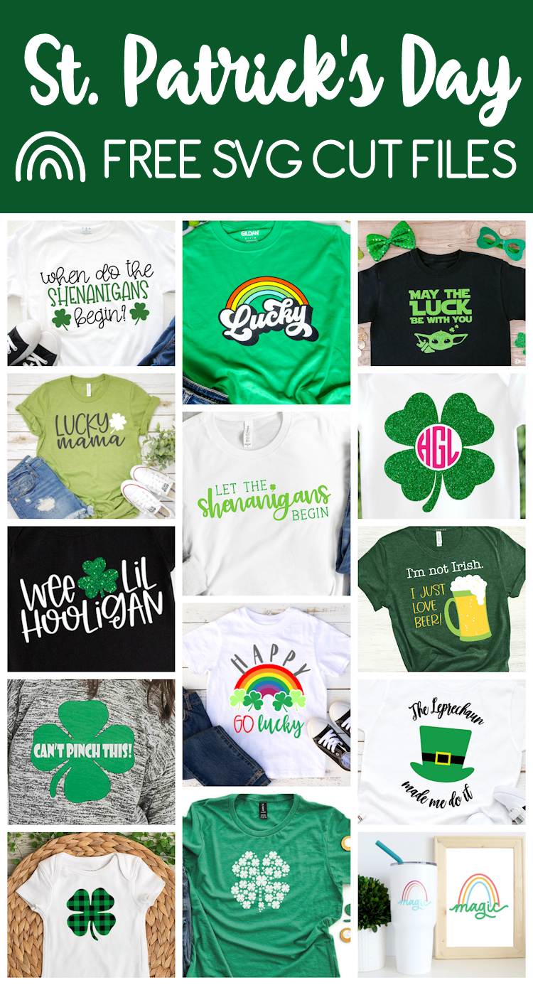 14 St. Patrick's Day projects using free SVG cut files