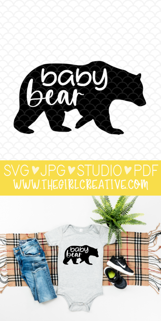 Baby Bear SVG Cut File for Silhouette Cameo