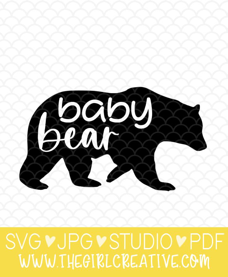 Baby Bear SVG Cut