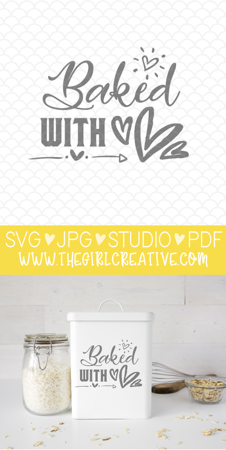 Baked with Love FREE SVG for Cricut and Silhouette