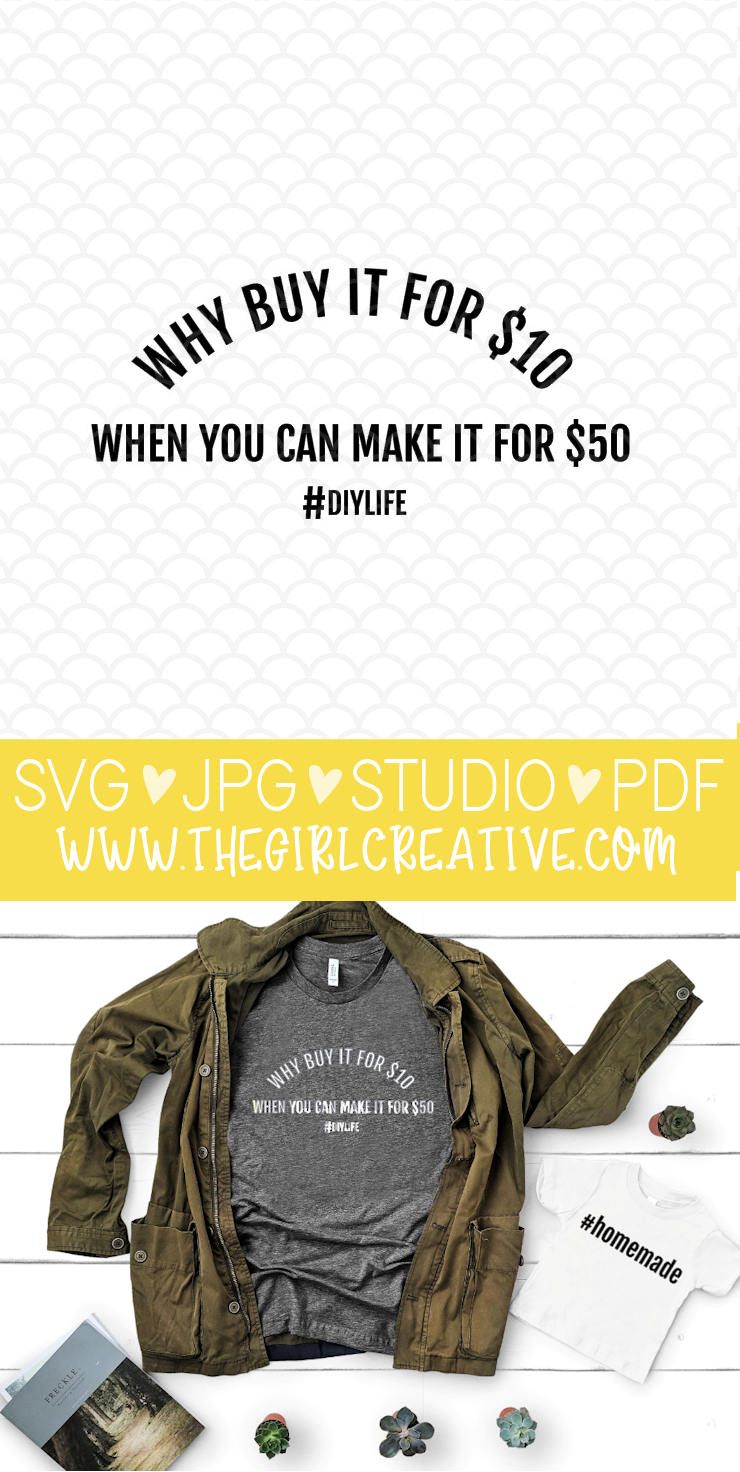 Why Buy it for $10 When You Can Make it for $50 SVG