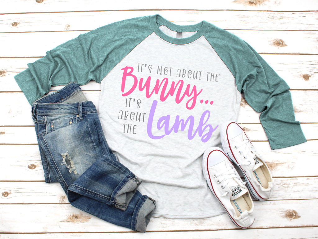 It's Not About the Bunny It's About the Lamb SVG Cut File for Cricut and Silhouette