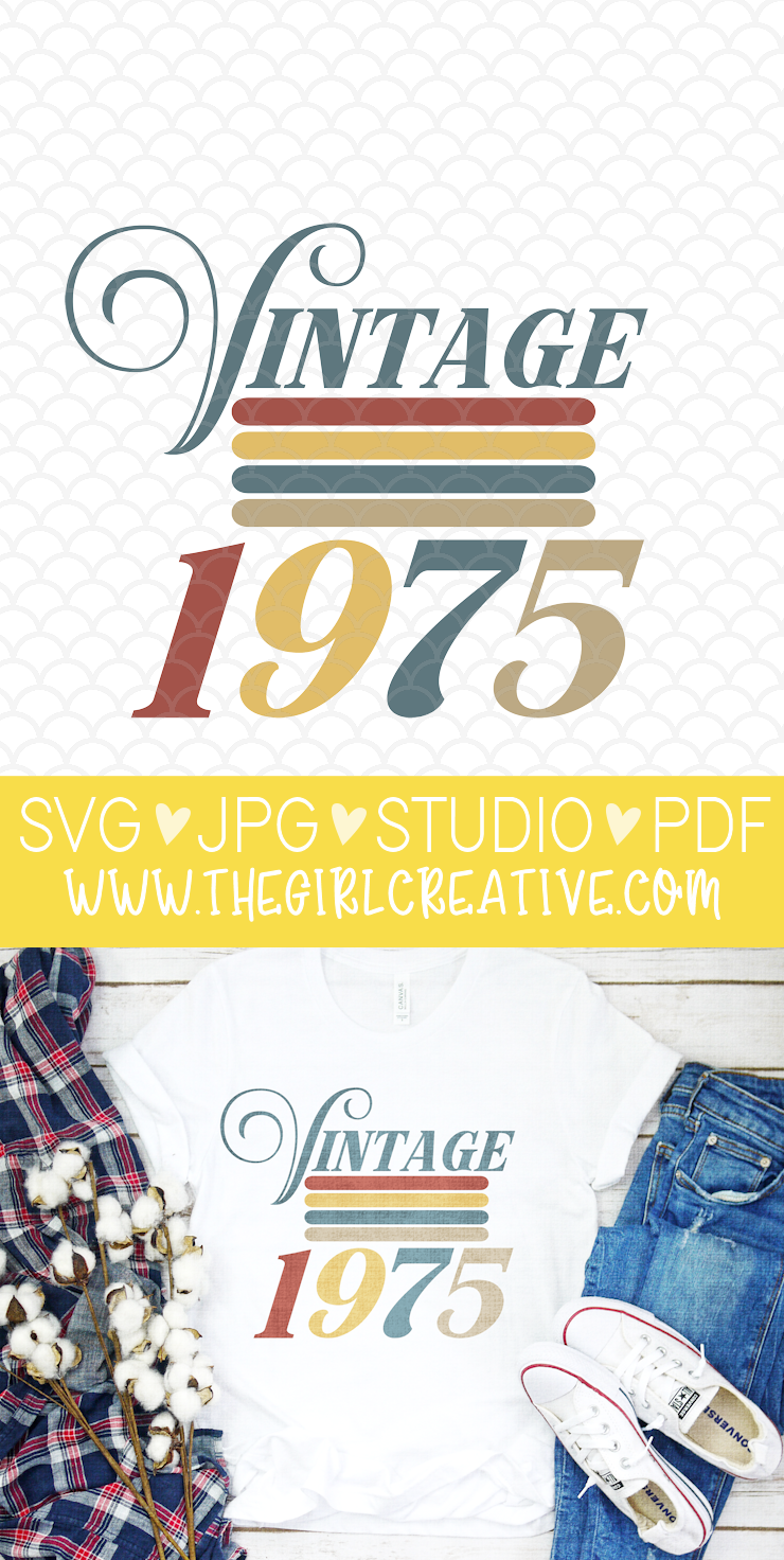 Vintage 1975 T-shirt Design