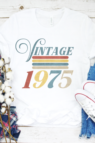 Vintage 1975 SVG that you can customize