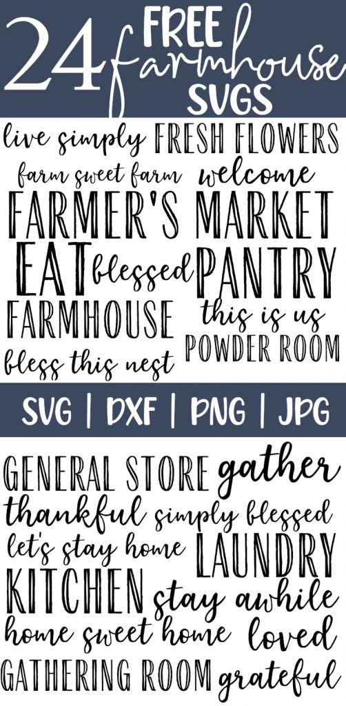 A list of farmhouse sayings in script and bold fonts