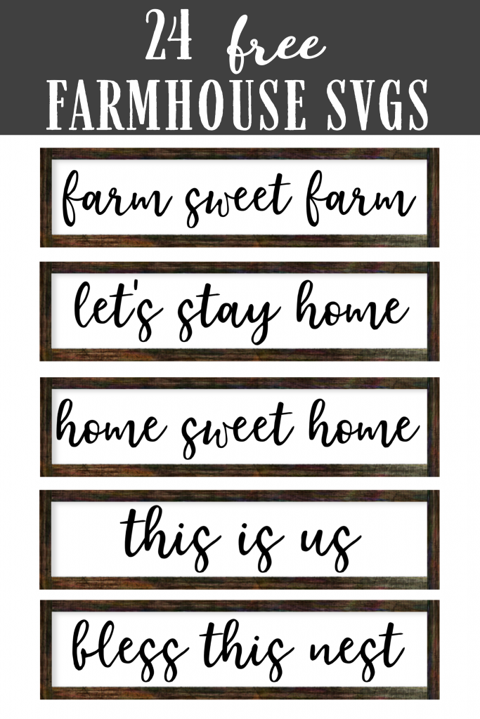 Collage of farmhouse signs with wood frames that you can make.