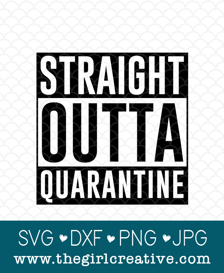 Shop listing photo for the quote Straight Outta Quarantine