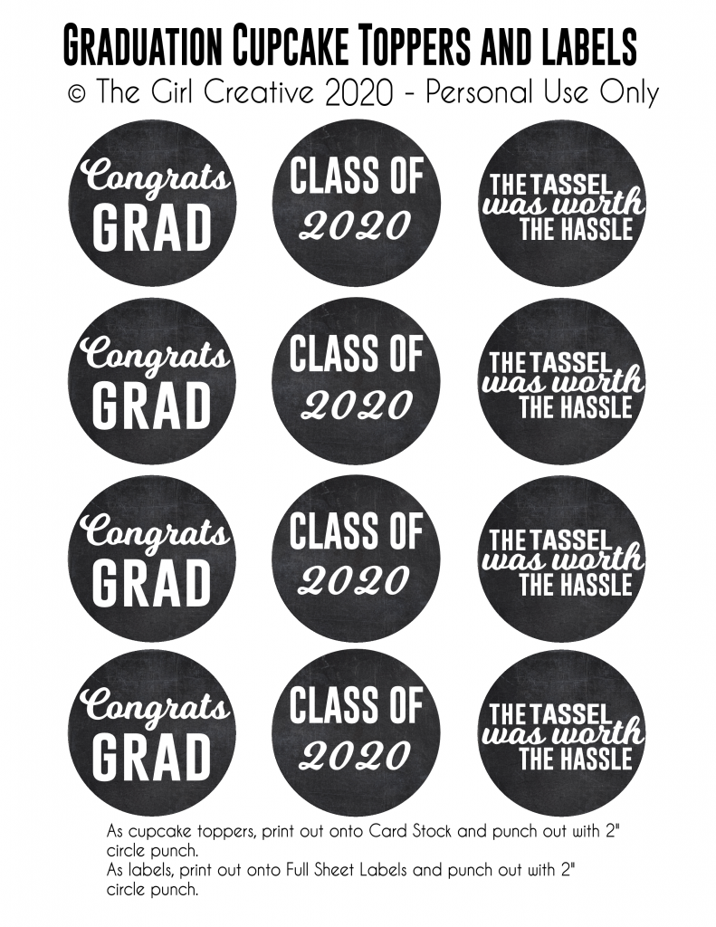 Sample Graduation Cupcake