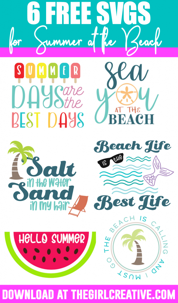 Colorful SVGs and Clipart for Summer at the Beach