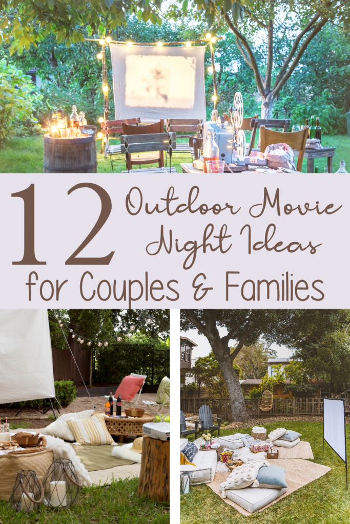 3 Rustic Photos showing  outdoor movie night seating ideas