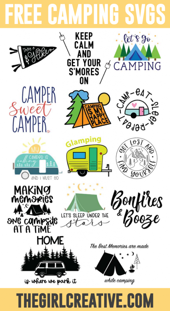 Free Camping Svg Cut Files The Girl Creative