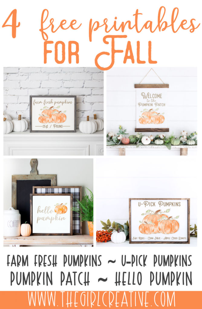 4 Beautiful Fall Signs to Print for Free