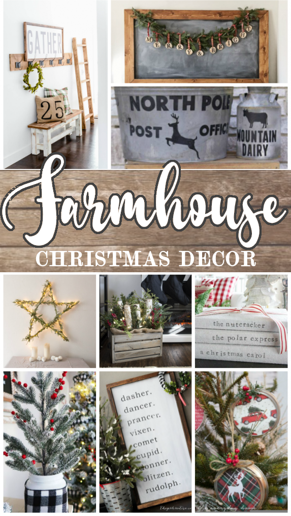 Farmhouse Christmas Decor The Girl Creative